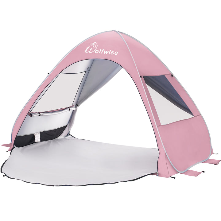 WolfWise AquaBreeze A20 Instant Pop-up Beach Tent Pink