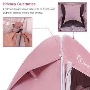 WolfWise pop up shower tent perfectly protects your privacy.