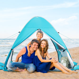 WolfWise AquaBreeze A10 Instant Pop-up Beach Tent Blue