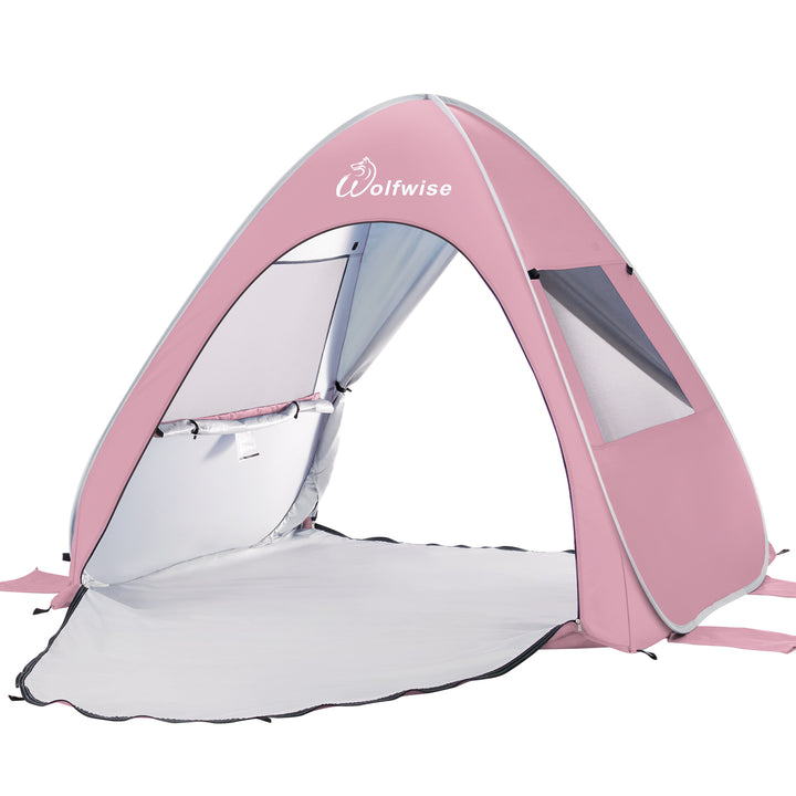 WolfWise AquaBreeze A10 Instant Pop-up Beach Tent Pink