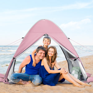 Wolfwise pop up beach tent comfortably fits 2-3 people.