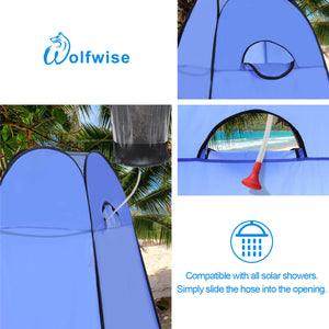 WolfWise Blazers A10 Pop Up Privacy Shower Tent Portable Outdoor Sun Shelter Camp Toilet Changing Dressing Room is Compatible with All Solar Showers for Showering in the Wild.