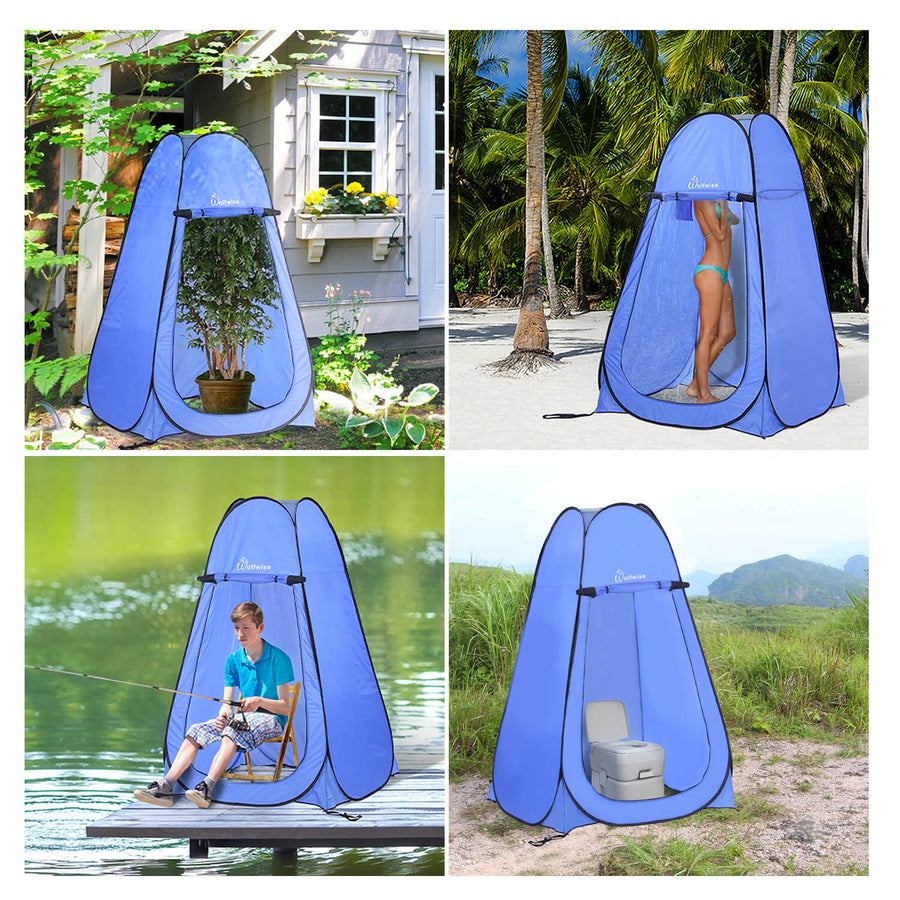 WolfWise Blazers A10 Pop Up Privacy Shower Tent Portable Outdoor Sun Shelter Camp Toilet Changing Dressing Room is Ideal for Changing Clothes, Growing Plants, Fishing, and Using the Bathroom When Camping.