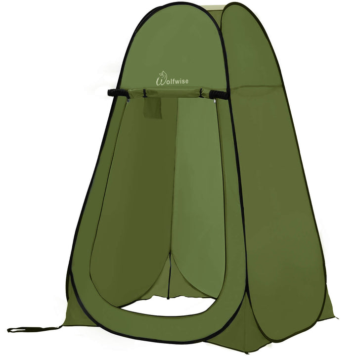 WolfWise Blazers A10 Pop Up Privacy Shower Tent Portable Outdoor Sun Shelter Camp Toilet Changing Dressing Room Green