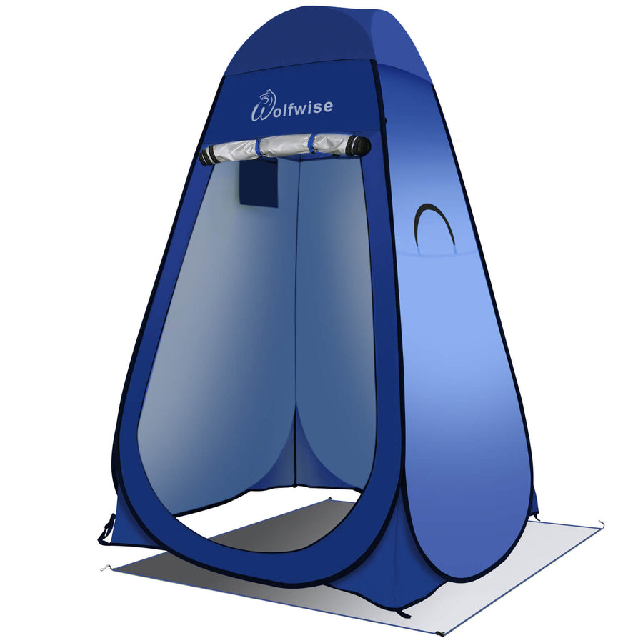 WolfWise Blazers A20 Pop Up Privacy Shower Tent Portable Outdoor Sun Shelter Camp Toilet Changing Dressing Room with 2 Zippered Windows and a Large Entrance Delivers 360 Degree Ventilation.