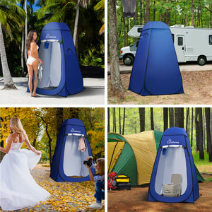 WolfWise pop up shower tent is ideal for changing clothes, showering in the wild, outdoor shooting, and using the bathroom when camping.