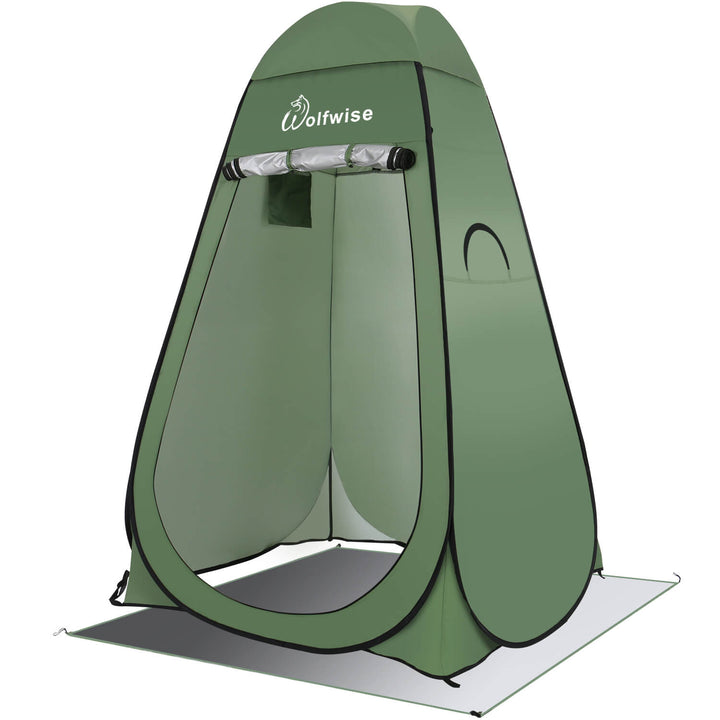 WolfWise Blazers A20 Pop Up Privacy Shower Tent Portable Outdoor Sun Shelter Camp Toilet Changing Dressing Room Green