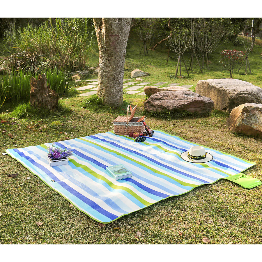 Wolfwise Outdoor Picnic Blanket is on the grass.