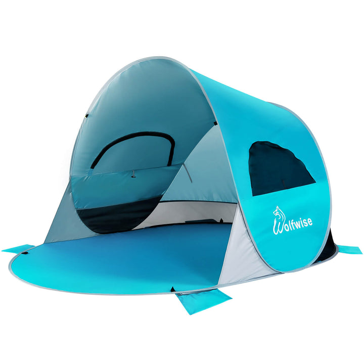 Wolfwise Easy Pop Up Beach Tent, blue