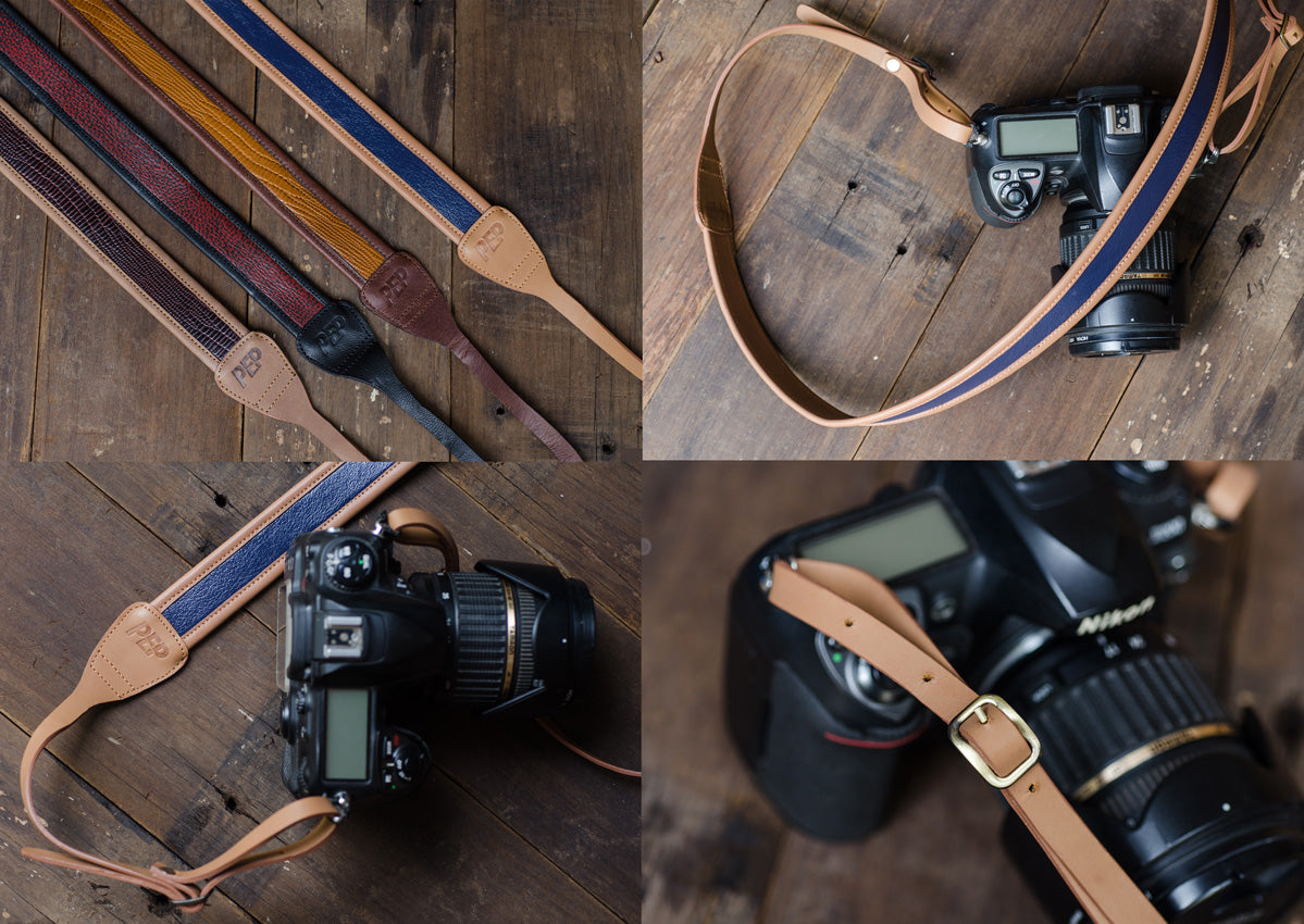 Leather Camera Straps for PEP Talks Merchandise