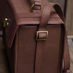DSLR Brown Leather Camera Bag