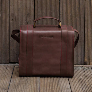 Brown Leather DSLR Camera Bag