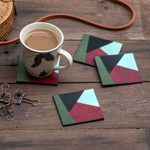 Leather & Cork Coasters