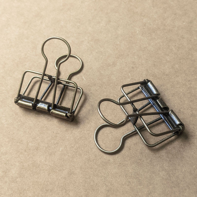 Antique Finish Hollow Binder Clips