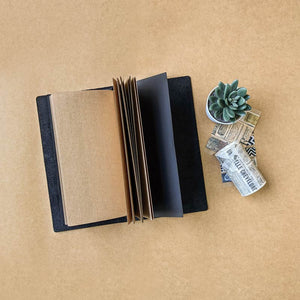 Black Chroma TBC Travellers Journal Cover - Slim
