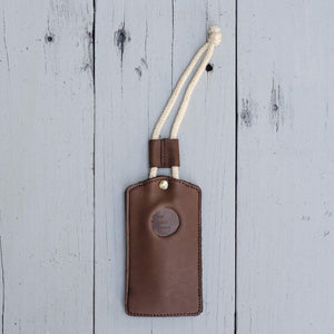 Brown Leather & Felt Key Holder with Cord