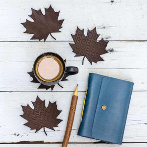 Brown Autumn Leaf Coasters