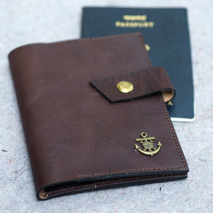 Brown Passport Cover - Nautical Series