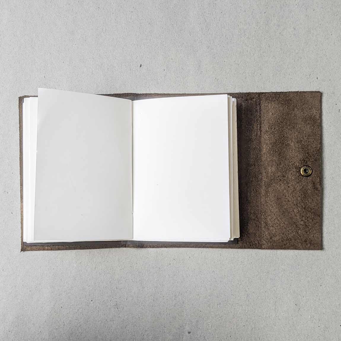Brown Leather Pocket Journal - A6