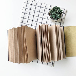 Colour Block Square Leather Journals