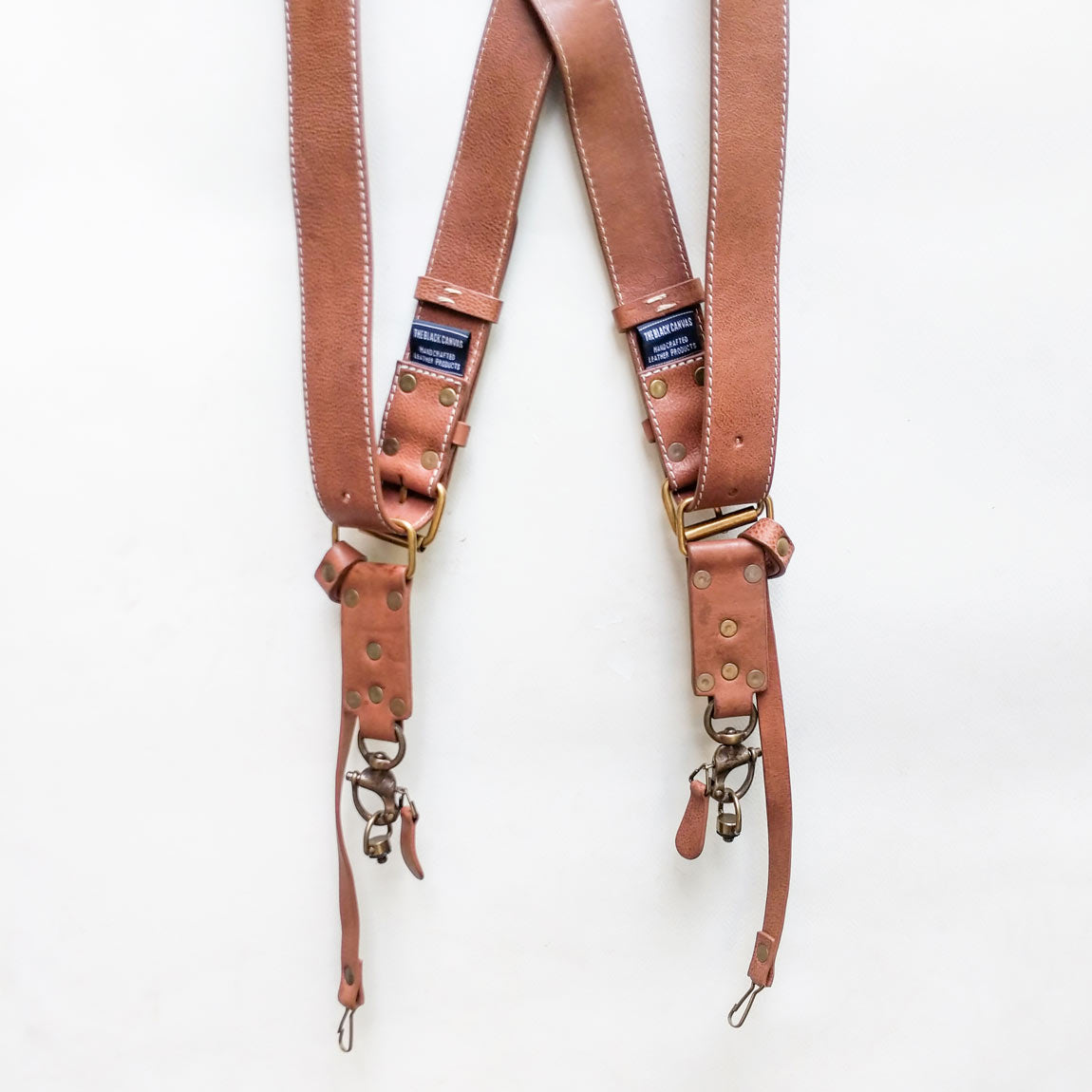 Double Camera Strap Harness - Tan
