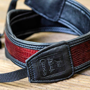 Leather DSLR Camera Straps red yellow brown
