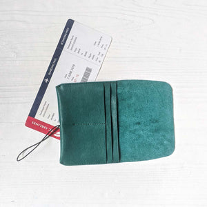 Passport Wallet - Jade Green