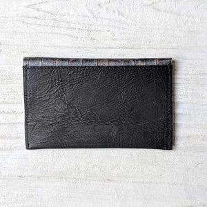 Metallic Leather Card Wallet