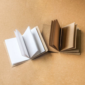 Minimalistic Kraft Notebooks - A6