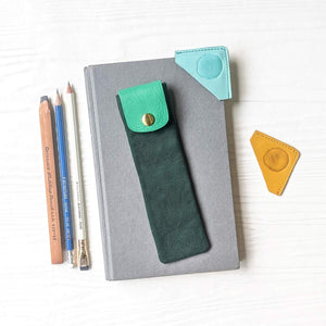 Keeper Pen/Pencil Case + Corner Bookmarks Bundle