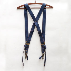 Double Camera Strap Harness - Navy Blue