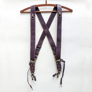 Double Camera Strap Harness - Purple