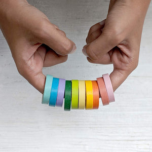 Rainbow Washi Tapes - Pack of 10