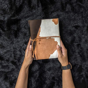 Rustic Furry Leather Journal - A5