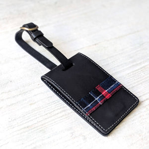 Tartan Luggage Tag - Black