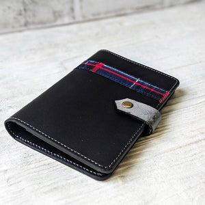 Tartan Passport Holder - Black