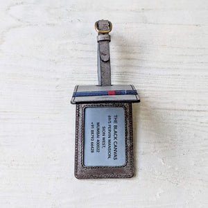 Tartan Luggage Tag - Marble Grey