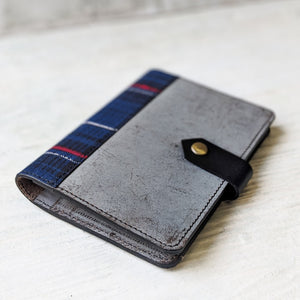 Tartan Passport Holder - Marble Grey