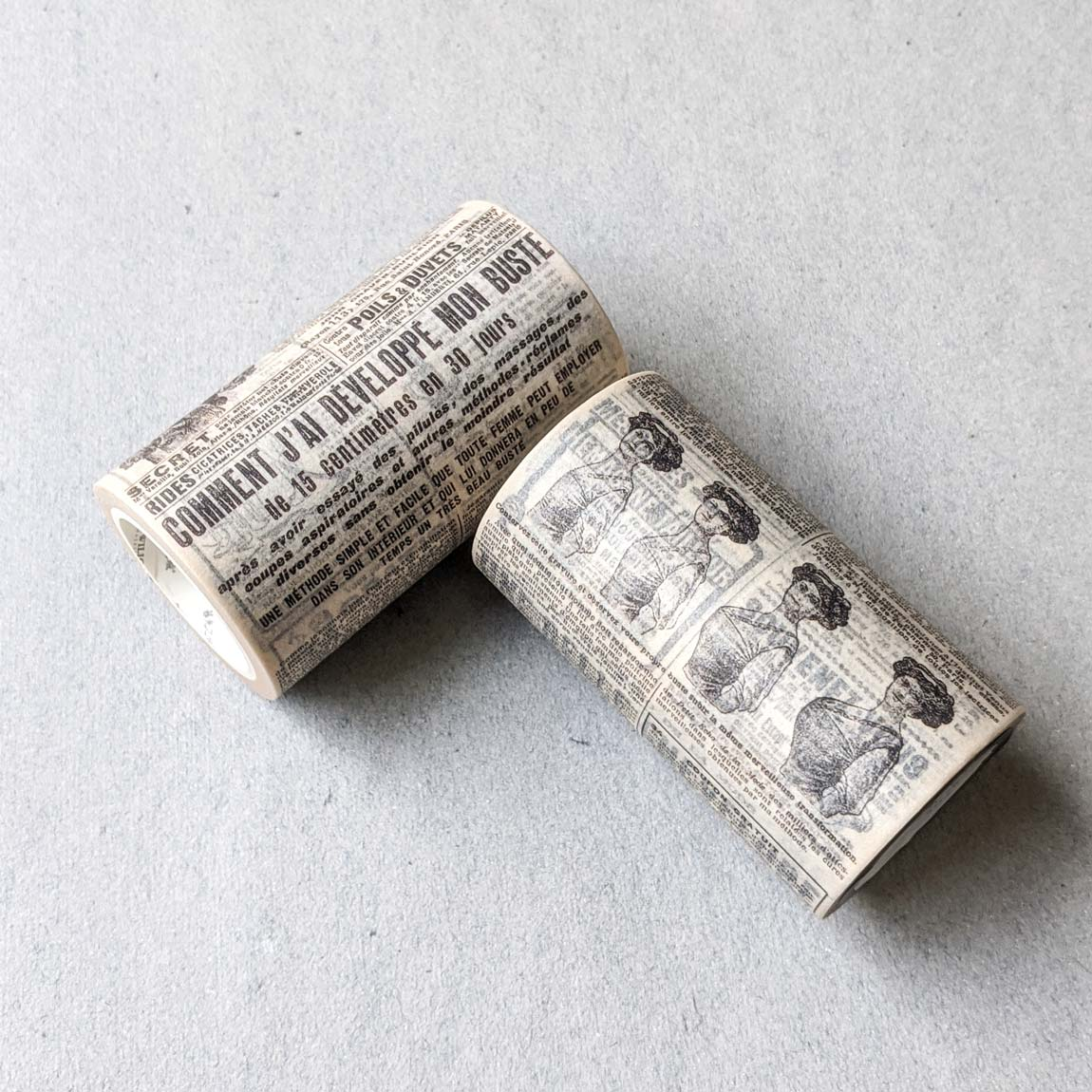 Large Vintage Newspaper Washi Tape - 80 mm x 8 m