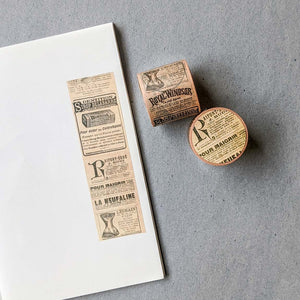 Small Vintage Newspaper Washi Tape - 40 mm x 8 m