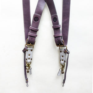 Double Camera Strap Harness - Violet-Grey