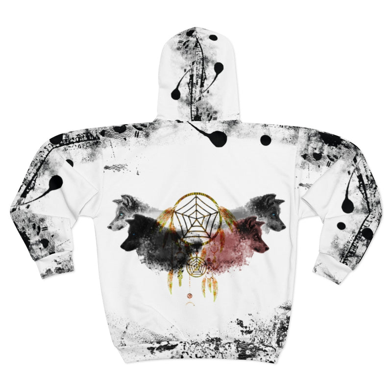 Dream Spirit All Over Print Zip Hoodie