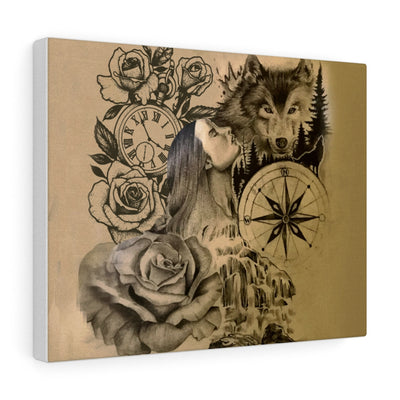 Wolfs Memoirs Canvas Gallery Wraps