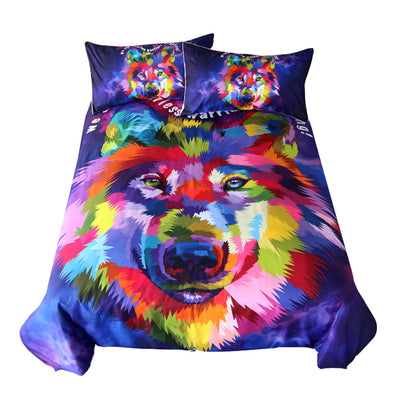Watercolor Wolf Bedding Set