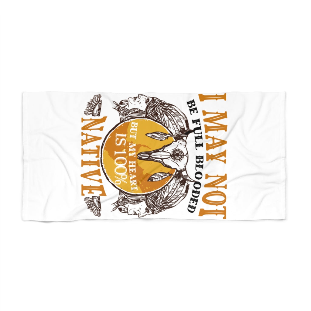 100% Native Heart Beach Towel