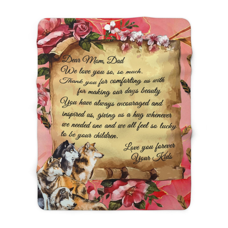 Letter To Mom and Dad ver1 Sherpa Fleece Blanket