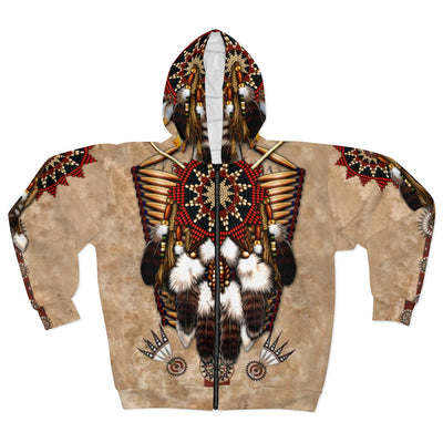 Warrior of the Sun All Over Print Zip Hoodie