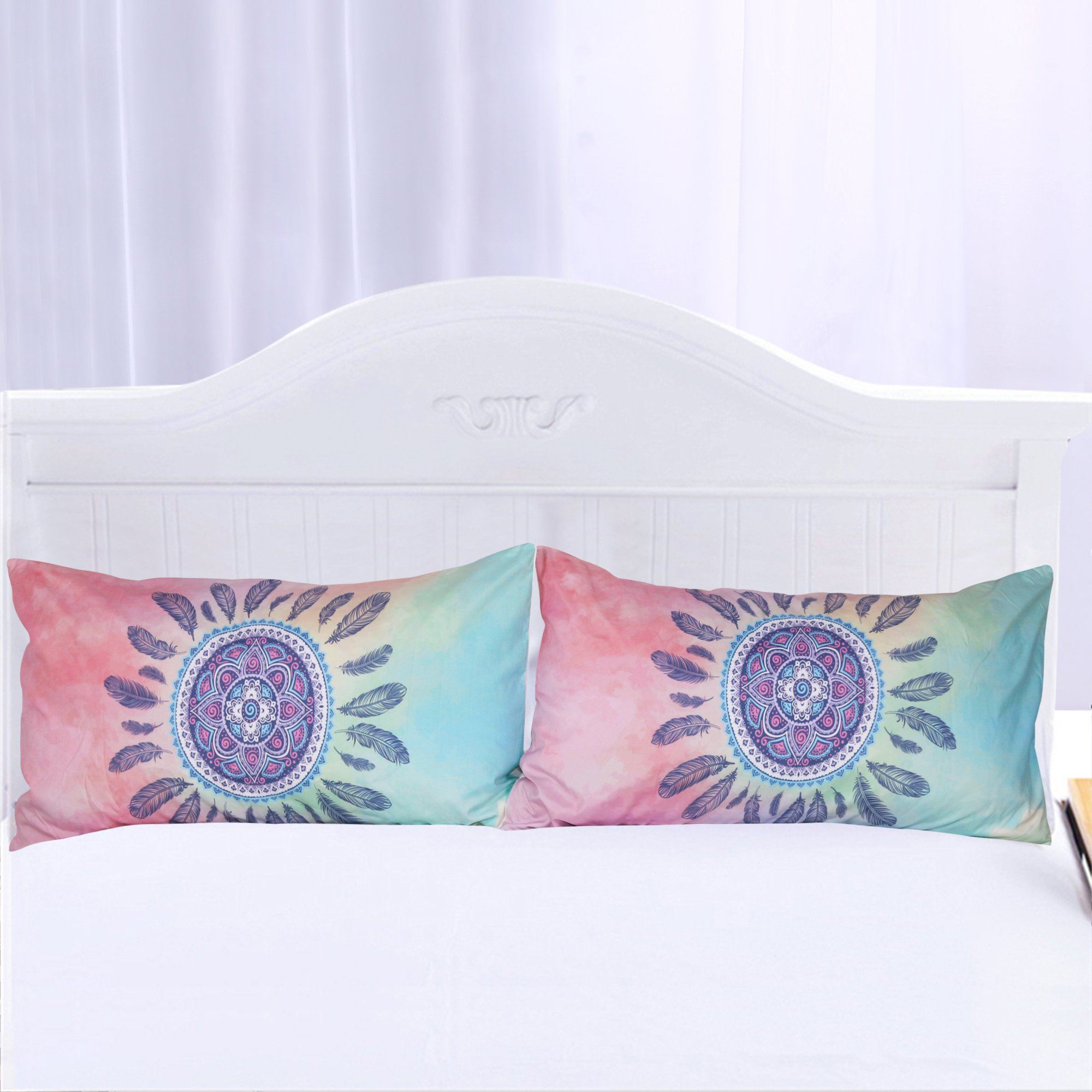 Pink & Blue Mandala Pillowcases- Set of 2