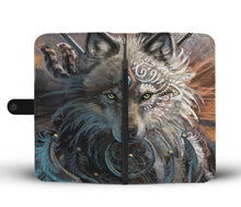 Load image into Gallery viewer, Wolf Warrior Wallet Phone Case