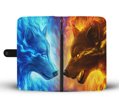 Fire and Ice By JojoesArt Wallet Phone Case